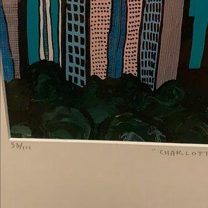 Chris Hood Wall Art - Charlotte Skyline Painting